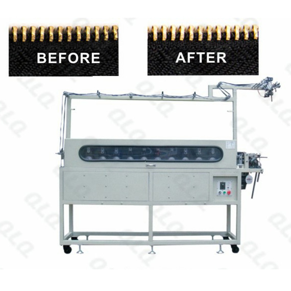 QLQ-24THPM Automatic Metal Zipper Teeth-Head Intelligent All-around Polishing Machine(double sides,24