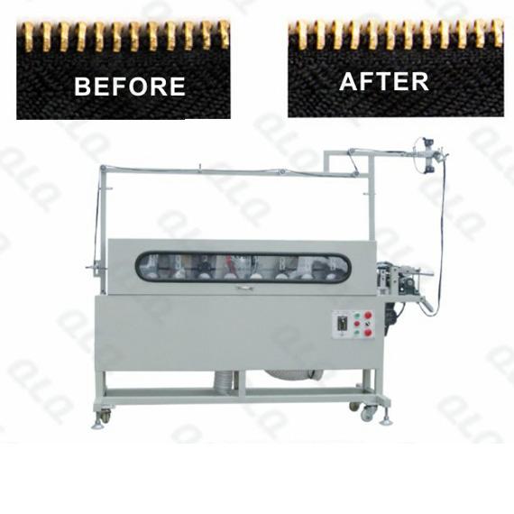 QLQ-10THPM Automatic Metal Zipper Teeth-Head Intelligent All-around Polishing Machine (single side, 1
