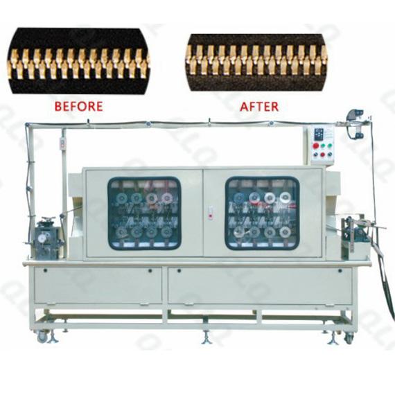 QLQ-FCPM Automatic Metal Zipper Surface Compositive Polishing Machine (24pcs abrasive paper wheels, f