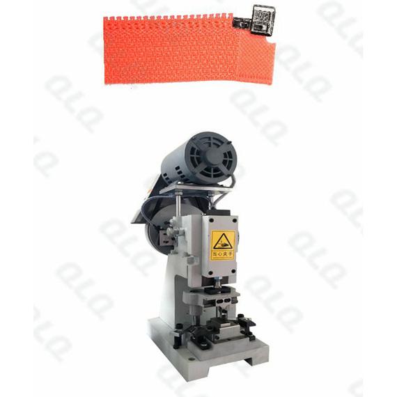 QLQ-SBMM Semi-automatic Nylon Zipper Box Fixing M/C - Machine (have back fixing & side fixing choosin