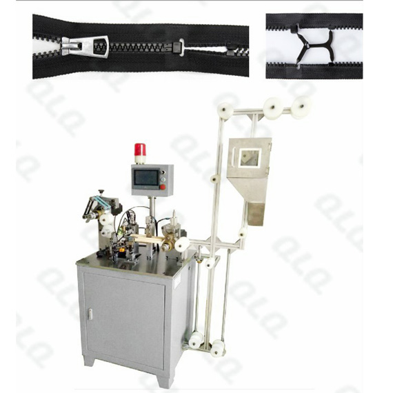 QLQ-DPCM Automatic Plastic Zipper Open-end Injection Waste Material Picking and Combining M/C