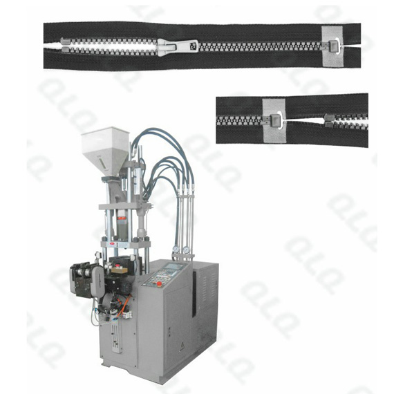 QLQ-DOIM-2 Automatic Plastic Zipper Open-end Injection M/C (for zipper with/without slider)