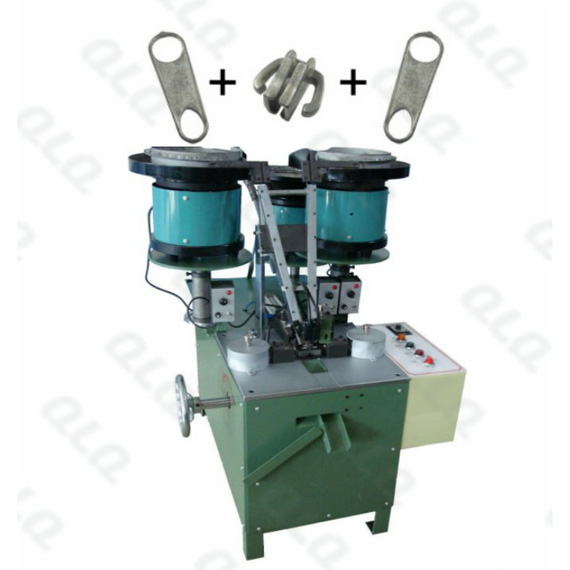 QLQ-005 Automatic Non-lock Slider with Double Puller Assembly Machine