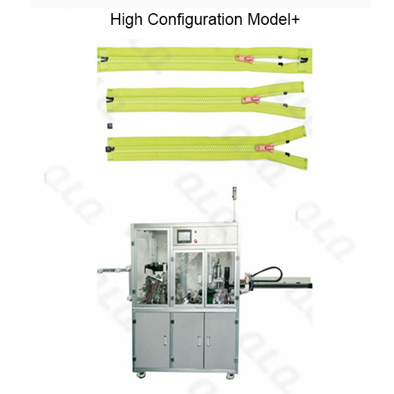 QLQ-SCBM Automatic Plastic Zipper Slider Mounting & Ultrasonic Cutting & Box Fixing M/C (3 in 1)