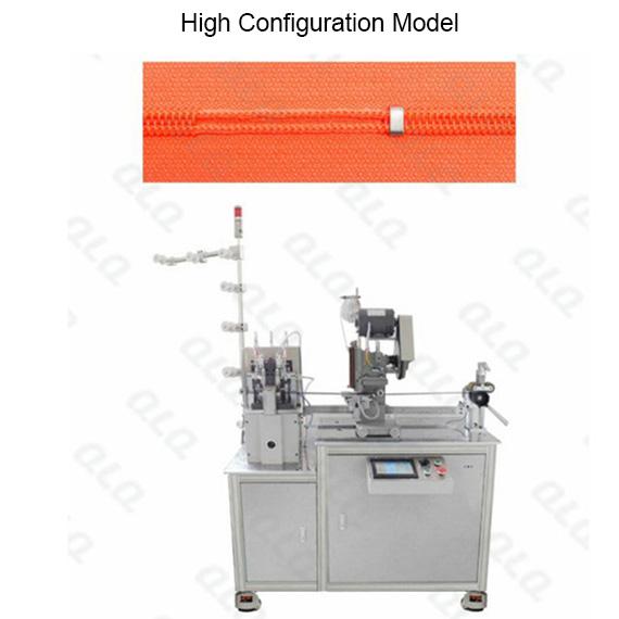 QLQ-NDGBM Automatic Nylon Zipper Double Trimming Gapping & Bottom Stop M/C - Machine (by aluminum bot