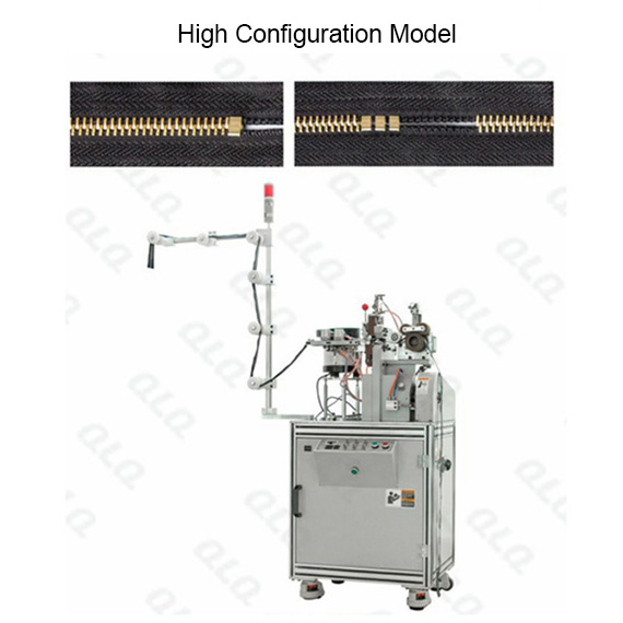 QLQ-HBSM Automatic Metal Zipper H Bottom Stop M/C - Machine (have 1 piece model and multiple pieces m