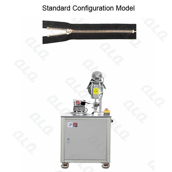 QLQ-SMETM Semi-automatic Metal Zipper Top Stop M/C - Machine (by grain European shape top stop)
