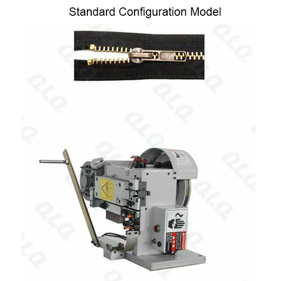 QLQ-STSM-2 Semi-automatic Metal Zipper Top Stop M/C - Machine (by brass top stop wire)