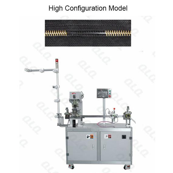 QLQ-MDGM-1 Automatic Metal Zipper Double Trimming Gapping M/C - Machine (long model)