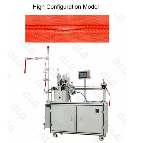 QLQ-NDGM-1 Automatic Nylon Zipper Double Trimming Gapping M/C - Machine (long model)