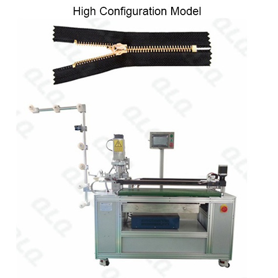 QLQ-ZCM-4 Automatic Metal Zipper Ultrasonic Closed-end Zigzag Cutting M/C - Machine(with Robot hand