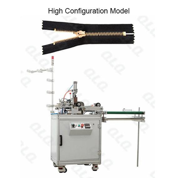 QLQ-ZCM-2 Automatic Metal Zipper Ultrasonic Closed-end Zigzag Cutting M/C - Machine
