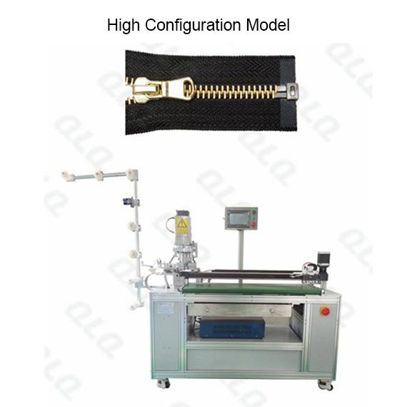 QLQ-OCM-4 Automatic Metal Zipper Ultrasonic Open-end Cutting M/C - Machine (with labour hand)