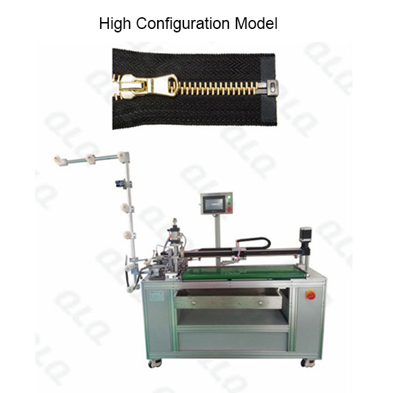 QLQ-OCM-3 Automatic Metal Zipper Open-end Cutting M/C - Machine (with labour hand)