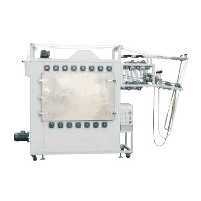 Automatic Nylon & Invisible Zipper Ironing Machine (4lines zipper, one chamber)