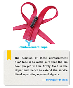 The reinforcement film for zipper-small but important