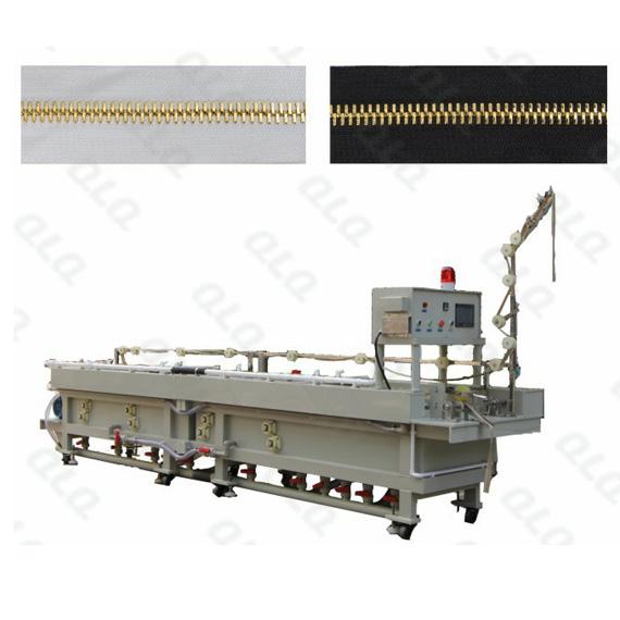 QLQ-HGPM, Shiny Gold Plating Machine, Metal Zipper, Horizontal Plating Machine, Golden Color Plating Machine, Horizontal Golden Color Plating Machine, Color Plating Machine