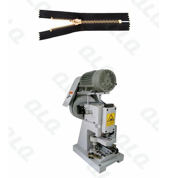 QLQ-SZCM-1 Semi-automatic Metal Zipper Closed-end Zigzag Cutting M/C - Machine
