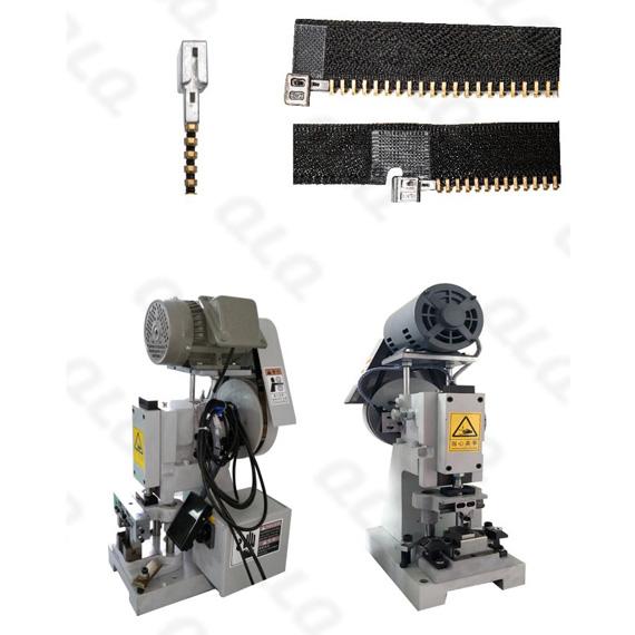 QLQ-SBMM Semi-automatic Metal Zipper Box Fixing M/C - Machine (have back fixing & side fixing choosin