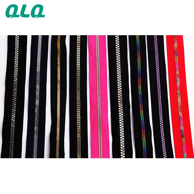 Metal Plastic Long Chain Zipper 3# 5# 7# 8# 10#