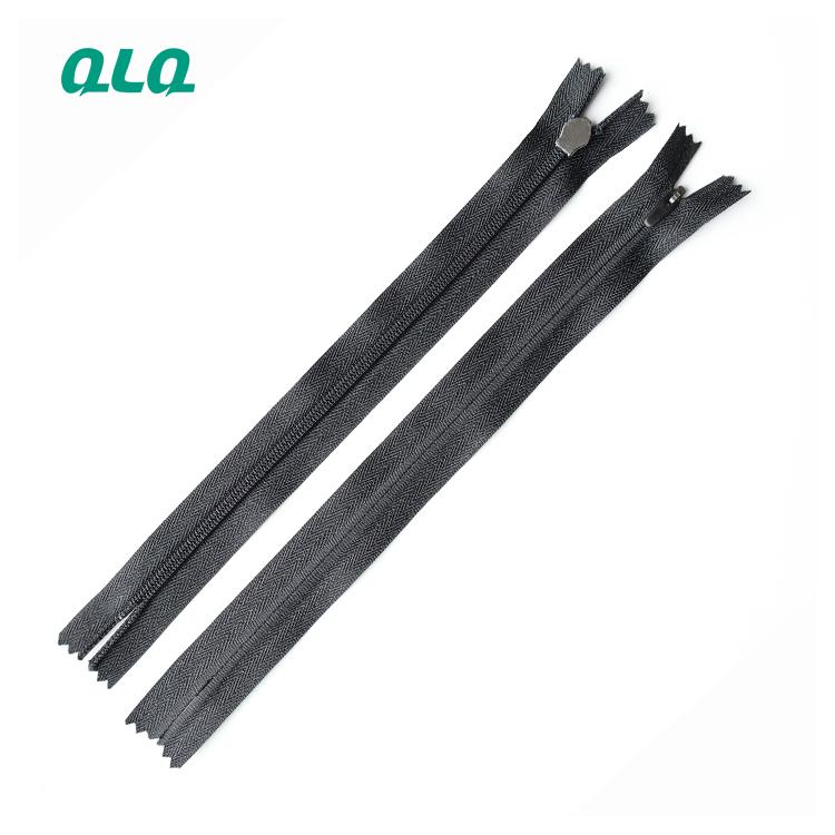 Factory Wholesale 3# Close-End Invisible Nylon Zipper for Garments Bags Tent zipper tape