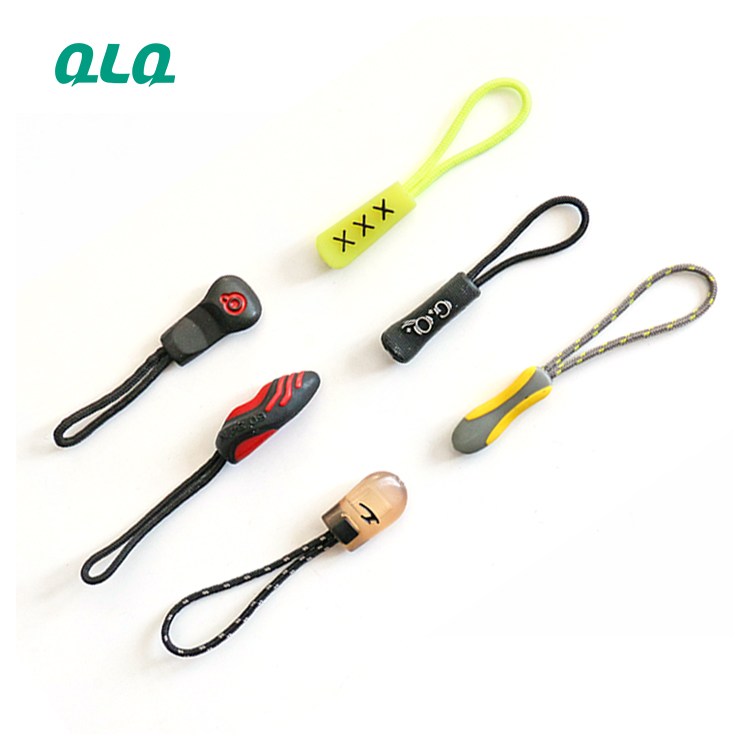 Factory Garment Zipper Rubber puller Silicone puller
