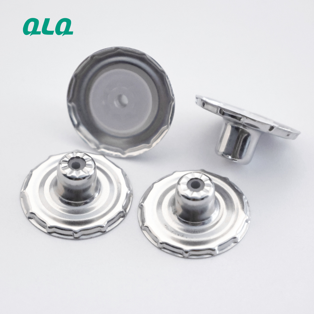 Wholesale 10mm 13mm 16mm Stainless steel button part with plastic core
