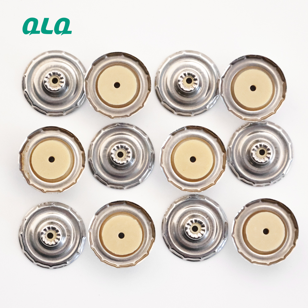 Customized Wholesale Stainless steel button shell with hole For Shirt Clothing