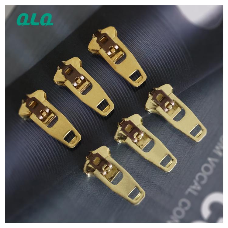 Zipper metal #4.5 YG Slider brass Zinc Alloy Zipper Slider