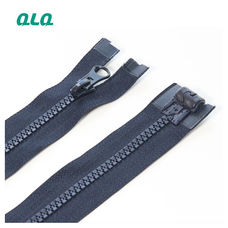Custom cheap luxury Plastic O/E zipper with Auto Eco-friendly magetic Pin box