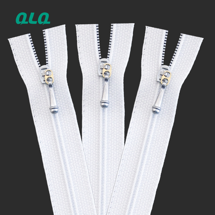 S20 High quality Nylon Close end zipper with Weaving tape and melted bottom stop for Garment and Bags