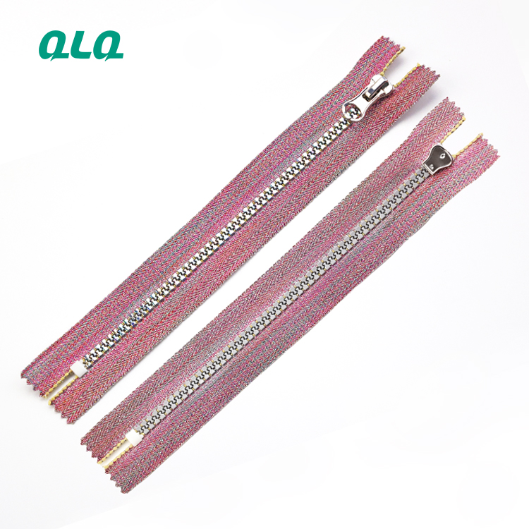 Best Selling Products Custom Jeans Zip Bags Gold Metal teeth Plastic zipper Close end zipper with shi