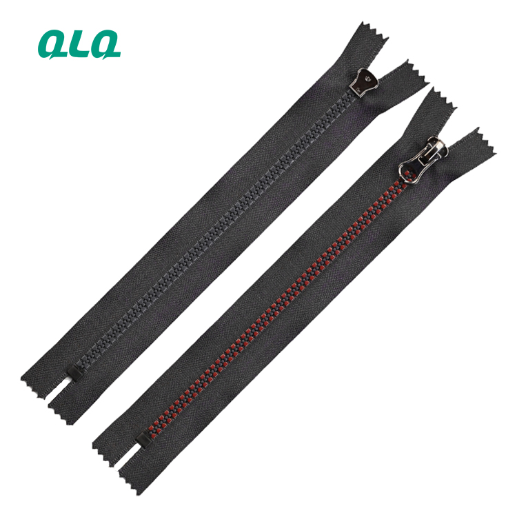 Wholesale 2021 New Arrivals Plastic Close end zipper with lacquer color custom size and length